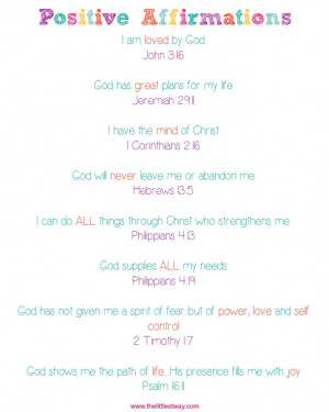 Daily Positive Scripture Affirmations #bible #scripture # ...