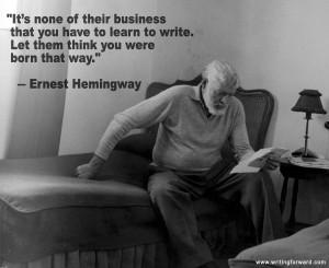 Ernest Hemingway learn to write