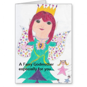Fairy Godmother Birthday Wishes Greeting Cards