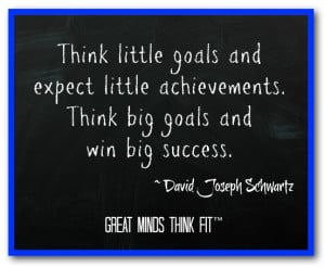 Goal Quote by David Joseph Schwartz