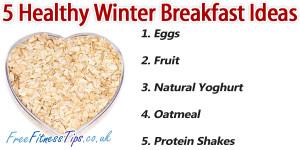 Healthy Winter Breakfast Ideas