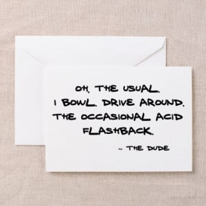 Big Lebowski Quote' Greeting Cards (Pk of 10)