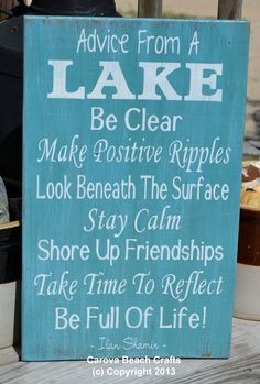 Lake House Decor - Lake Sign - Lake Decor - 18x12 - Cabin - Home Decor ...
