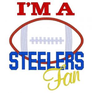 Sayings (3607) ...Steelers Fan Applique 5x7