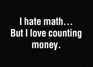hate math..