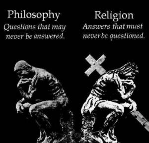 philosophy vs religion