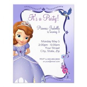 Sofia the First Birthday Invitation at Zazzle.ca