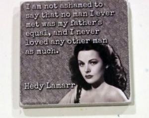 Hedy Lamarr Vintage Old Hollywood S tar Quote Ceramic Tile Cubicle ...