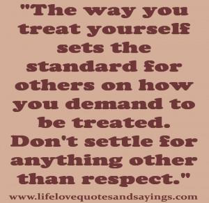 lifelovequotesandsayin...standard for others on how