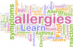 Charts of common food allergies and foods that they can be found in: