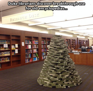 librarian's Christmas tree…