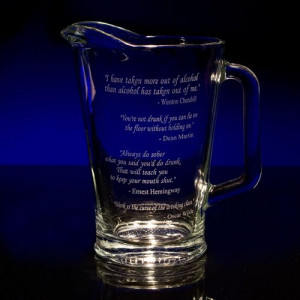 Great Drinking Quotes Pitcher