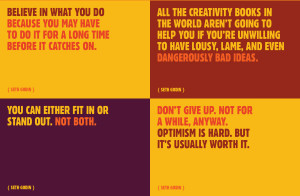 this free wallpaper of quotes from Julien Smith (my current