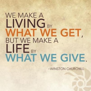 Give of yourself.
