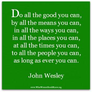 Sayings Of John Wesley