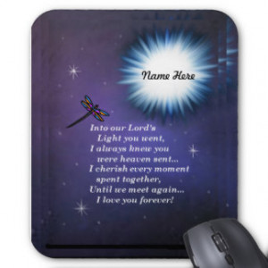 Into The Light Dragonfly Mousepad