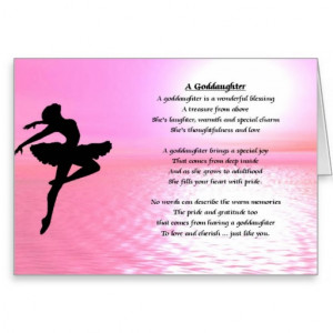 Ballerina Goddaughter Poem Greeting Cards