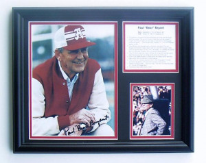 Bear Bryant signed photo tribute