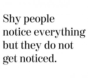 Shy People Quotes