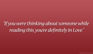 Quotes About Thinking About Someone
