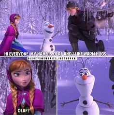 Go Back > Pix For > Disney Frozen Quotes Olaf