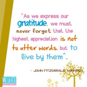 Express our gratitude!