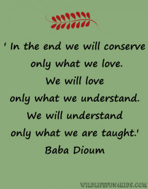 wildlife conservation quotes