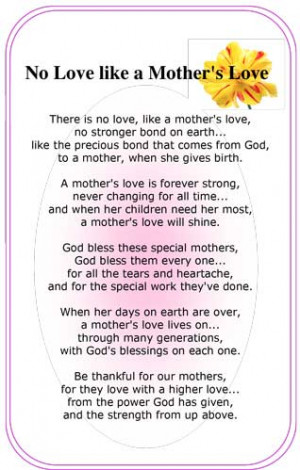 mothers love bible quotes quotesgram