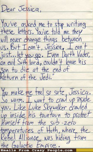 Star Wars Love Letter [emailsfromcrazypeople]