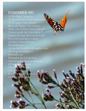Funeral Poem Remember...