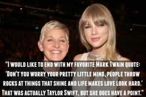 14. On the importance of Taylor Swift: