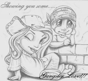 Myspace Graphics > Showing Some Love > Gangster Love Graphic