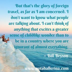 Bill Bryson on childlike wonder