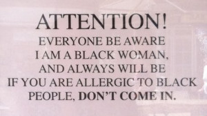 When A Womans Fed Up Quotes Shocking sign in black woman's