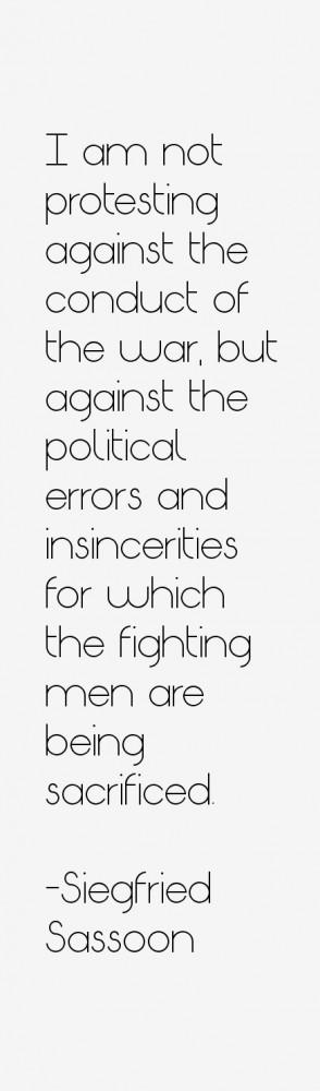 Siegfried Sassoon Quotes & Sayings