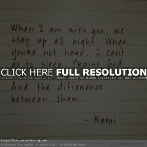 Rumi Love Quote: Rumi Quotes Withyou Stayup Night Sleep Insomnia ...