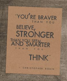 senior quote! 8 x 10 Kraft Art Print Christopher Robin Quote by ...
