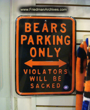 Chicago / Bears Parking Sign