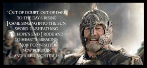 King Theoden ~ Quote ~ The Return Of The King ~ Tolkien ~ my ...