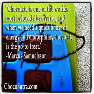 Marcus Samuelsson quote ChocoSutra