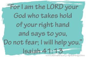 bible verses fear