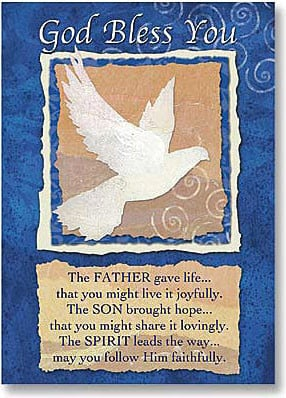 God Bless You First Communion Card
