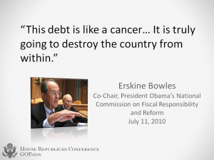Debt - Erskine Bowles Quote