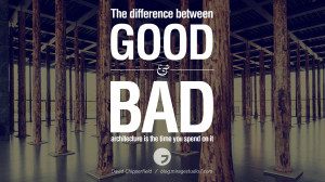 The difference between good and bad architecture is the time you spend ...