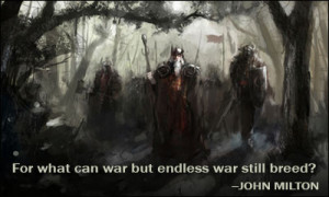 For what can war but endless war still breed?