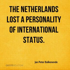 Jan Peter Balkenende - The Netherlands lost a personality of ...