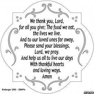 We thank you, Lord, for all you give; The food we eat, the lives we ...