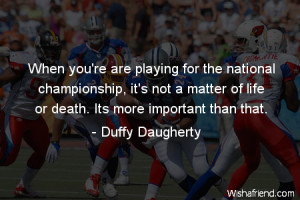 When your are playing for the national championship, it's not a matter ...