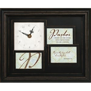 Thank You Pastor - Framed Clock and Photo