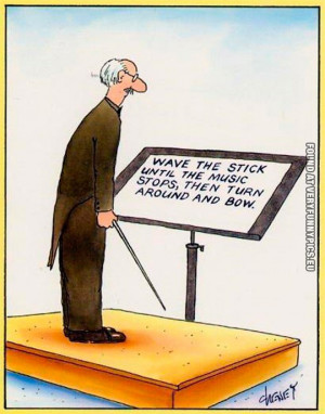 Funny Pictures - Wave the stick until the music stops - Ochestra ...